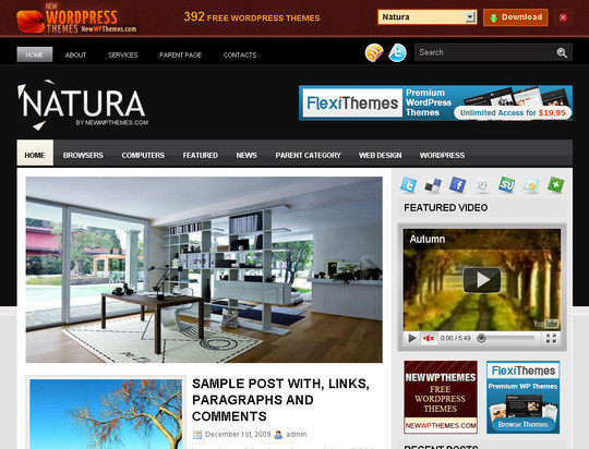 50 Fresh and Free WordPress 3 Series Compatible Themes 28