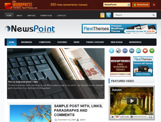 50 Fresh and Free WordPress 3 Series Compatible Themes 31