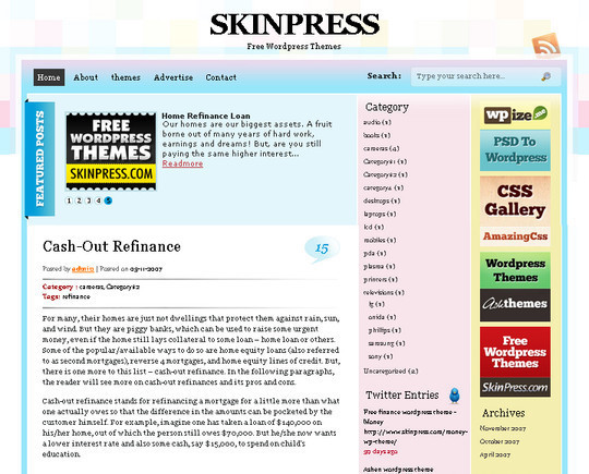 50 Fresh and Free WordPress 3 Series Compatible Themes 14