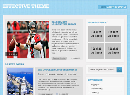 50 Fresh and Free WordPress 3 Series Compatible Themes 33