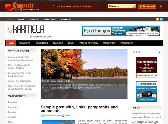 50 Fresh and Free WordPress 3 Series Compatible Themes 34