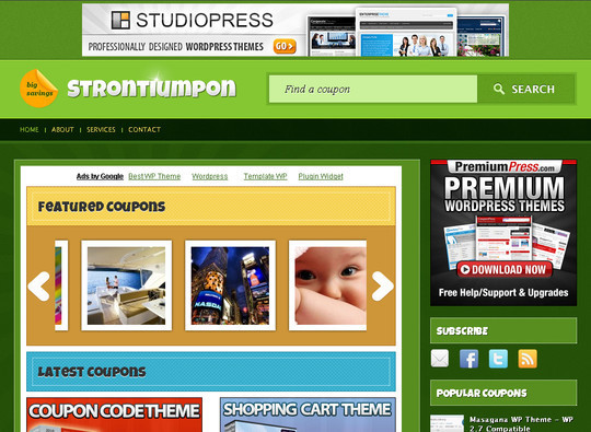 50 Fresh and Free WordPress 3 Series Compatible Themes 35
