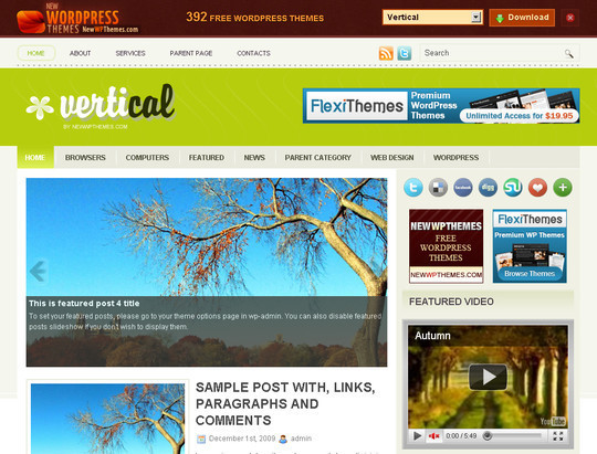 50 Fresh and Free WordPress 3 Series Compatible Themes 10