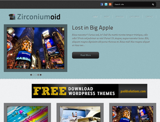 50 Fresh and Free WordPress 3 Series Compatible Themes 36