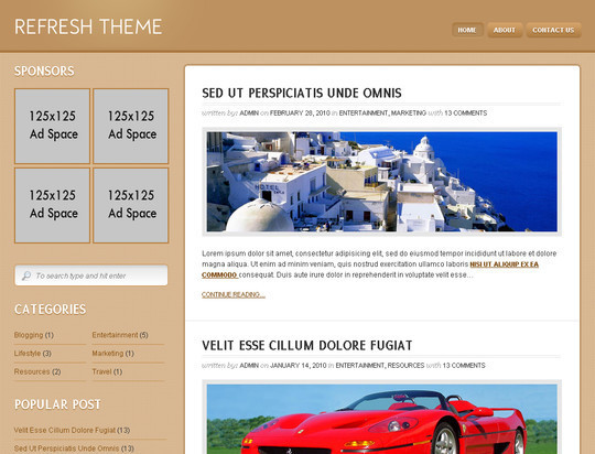 50 Fresh and Free WordPress 3 Series Compatible Themes 37