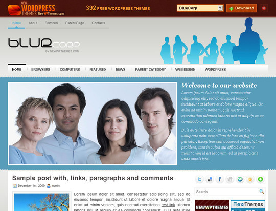 50 Fresh and Free WordPress 3 Series Compatible Themes 11