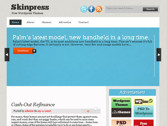 50 Fresh and Free WordPress 3 Series Compatible Themes 15