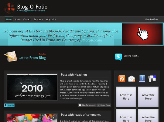 50 Fresh and Free WordPress 3 Series Compatible Themes 6