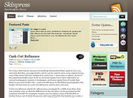 50 Fresh and Free WordPress 3 Series Compatible Themes 16