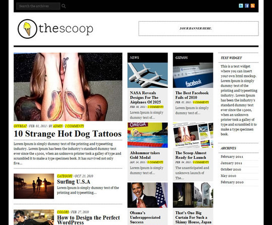 50 Fresh and Free WordPress 3 Series Compatible Themes 13