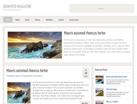50 Fresh and Free WordPress 3 Series Compatible Themes 50