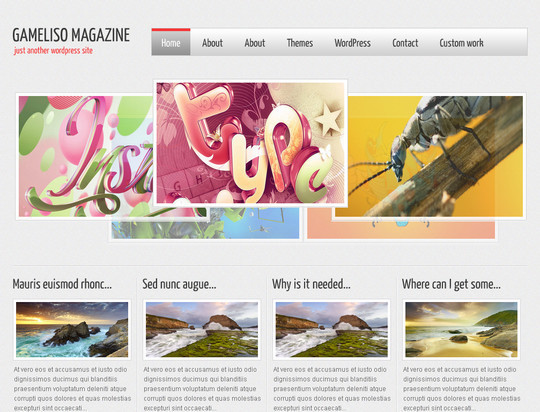 50 Fresh and Free WordPress 3 Series Compatible Themes 51
