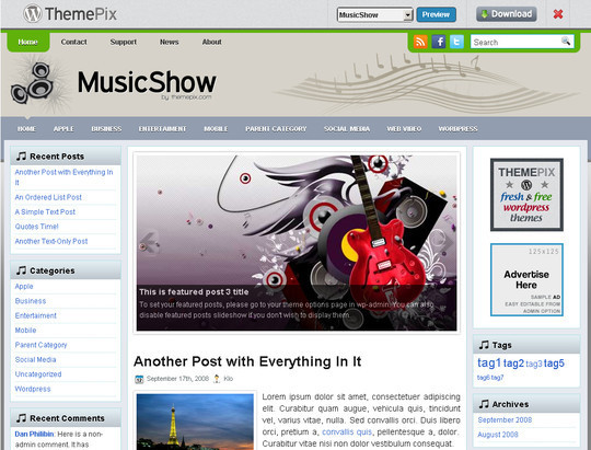 50 Fresh and Free WordPress 3 Series Compatible Themes 19