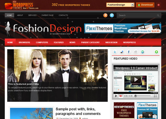 50 Fresh and Free WordPress 3 Series Compatible Themes 20