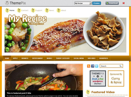 50 Fresh and Free WordPress 3 Series Compatible Themes 21
