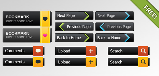 70 Free PSD Web UI Elements For Designers 12