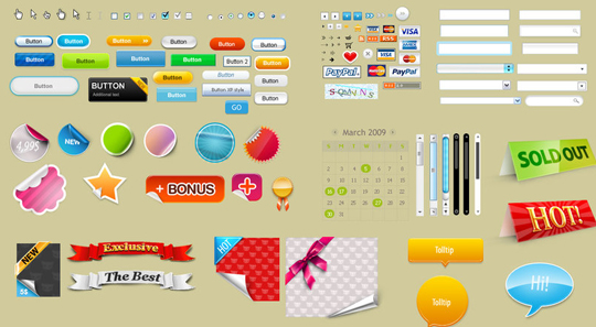 70 Free PSD Web UI Elements For Designers 37