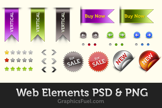 70 Free PSD Web UI Elements For Designers 71