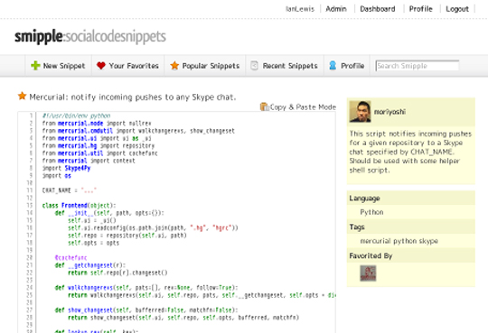 Ten Best Collaborative Sites For Quick Code Sharing 7