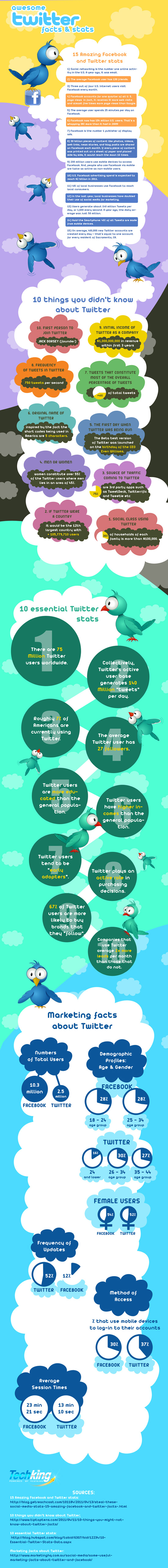 Awesome Yet Revealing Stats And Facts About Twitter (Infographic) 6