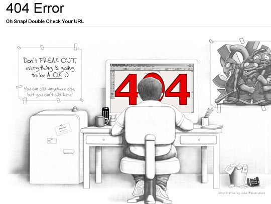 50 Creatively Designed (Unusual and Entertaining) 404 Error Pages Worth Checking Out 1