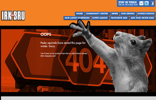 50 Creatively Designed (Unusual and Entertaining) 404 Error Pages Worth Checking Out 35