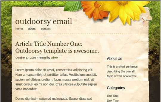 50 Useful And Free HTML Newsletter Templates 3