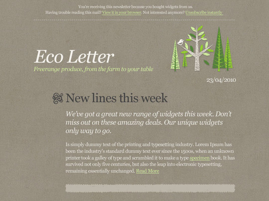 50 Useful And Free HTML Newsletter Templates 19