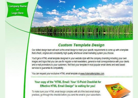 50 Useful And Free HTML Newsletter Templates 20