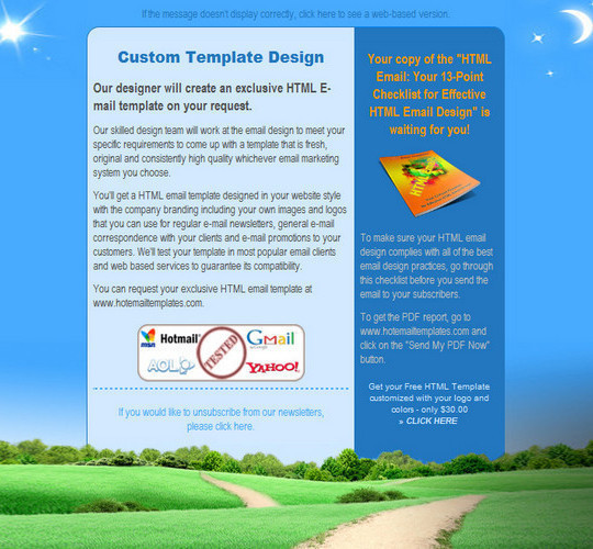 50 Useful And Free HTML Newsletter Templates 25