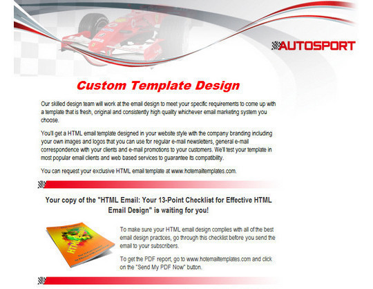 50 Useful And Free HTML Newsletter Templates 29