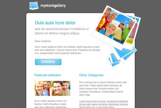 50 Useful And Free HTML Newsletter Templates 32