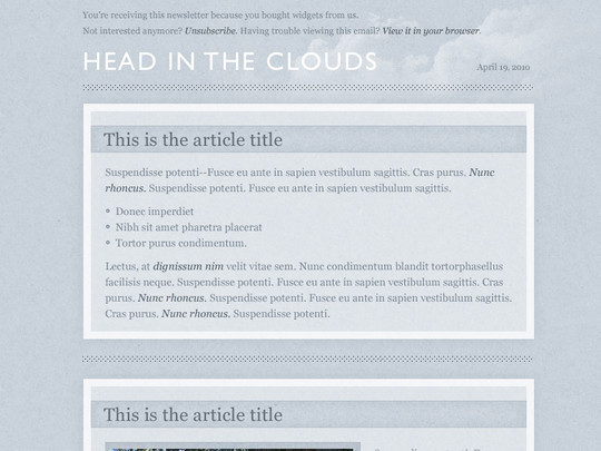 50 Useful And Free HTML Newsletter Templates 18