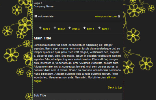 50 Useful And Free HTML Newsletter Templates 34