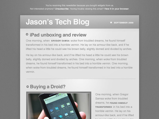 50 Useful And Free HTML Newsletter Templates 35