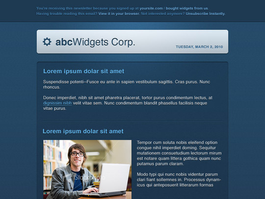 50 Useful And Free HTML Newsletter Templates 36