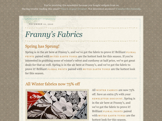 50 Useful And Free HTML Newsletter Templates 2
