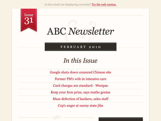 50 Useful And Free HTML Newsletter Templates 6