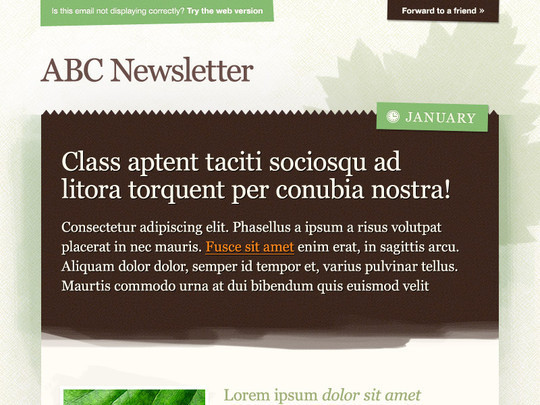 50 Useful And Free HTML Newsletter Templates 38