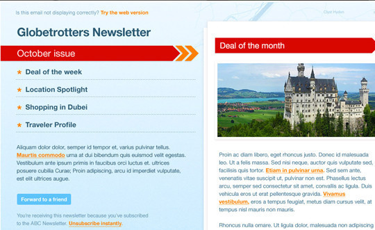 50 Useful And Free HTML Newsletter Templates 4