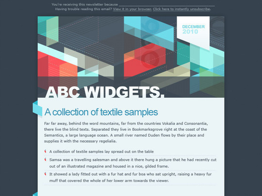 50 Useful And Free HTML Newsletter Templates 40