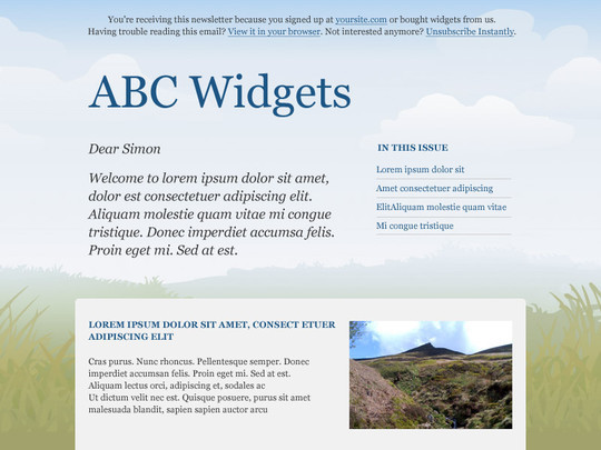 50 Useful And Free HTML Newsletter Templates 41