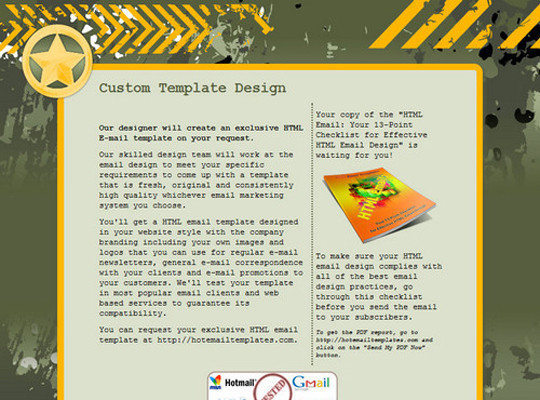 50 Useful And Free HTML Newsletter Templates 1