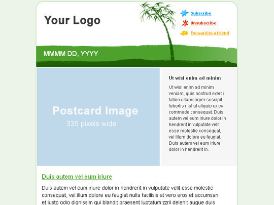 50 Useful And Free HTML Newsletter Templates 43