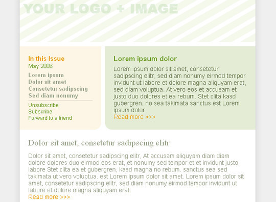 50 Useful And Free HTML Newsletter Templates 46