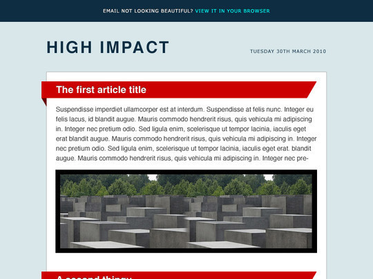 50 Useful And Free HTML Newsletter Templates 9