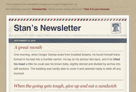50 Useful And Free HTML Newsletter Templates 11