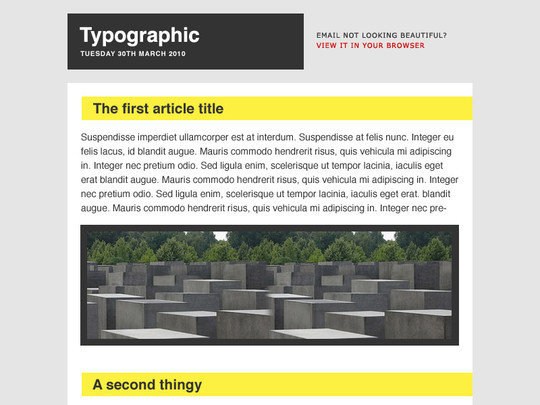 50 Useful And Free HTML Newsletter Templates 14