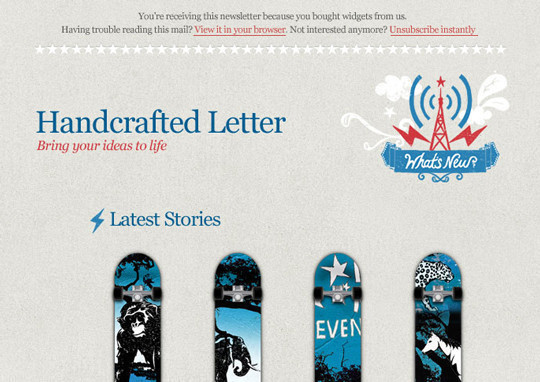 50 Useful And Free HTML Newsletter Templates 15