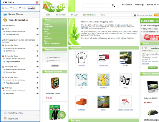 Avactis Ecommerce PHP Shopping Cart Giveaway 1